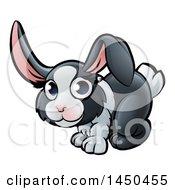Clipart Graphic Of A Cartoon Dutch Bunny Rabbit Royalty Free Vector Illustration