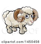 Cartoon White Ram