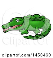 Clipart Graphic Of A Cartoon Crocodile Royalty Free Vector Illustration by AtStockIllustration