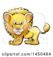 Clipart Graphic Of A Cartoon Happy Male Lion Royalty Free Vector Illustration by AtStockIllustration