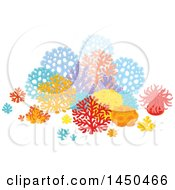 Clipart Graphic Of A Group Of Colorful Sea Fans Corals And Anemones Royalty Free Vector Illustration