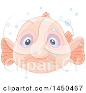 Swimming Blobfish And Bubbles