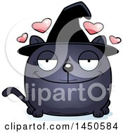 Clipart Graphic Of A Cartoon Loving Witch Cat Character Mascot Royalty Free Vector Illustration by Cory Thoman