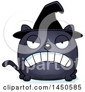 Clipart Graphic Of A Cartoon Mad Witch Cat Character Mascot Royalty Free Vector Illustration by Cory Thoman