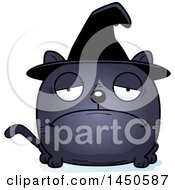 Clipart Graphic Of A Cartoon Sad Witch Cat Character Mascot Royalty Free Vector Illustration by Cory Thoman