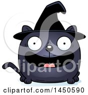 Clipart Graphic Of A Cartoon Smiling Witch Cat Character Mascot Royalty Free Vector Illustration by Cory Thoman