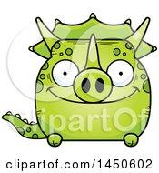 Poster, Art Print Of Cartoon Happy Triceratops Character Mascot