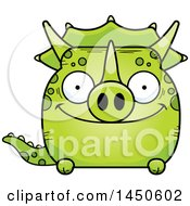 Cartoon Happy Triceratops Character Mascot