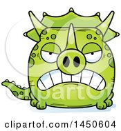 Cartoon Mad Triceratops Character Mascot