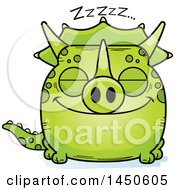 Cartoon Sleeping Triceratops Character Mascot