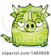 Poster, Art Print Of Cartoon Sly Triceratops Character Mascot