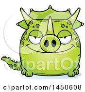 Cartoon Sly Triceratops Character Mascot