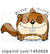 Clipart Graphic Of A Cartoon Sleeping Squirrel Character Mascot Royalty Free Vector Illustration