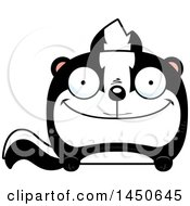 Clipart Graphic Of A Cartoon Happy Skunk Character Mascot Royalty Free Vector Illustration