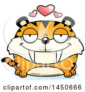 Cartoon Loving Saber Toothed Tiger Character Mascot