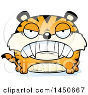 Clipart Graphic Of A Cartoon Mad Saber Toothed Tiger Character Mascot Royalty Free Vector Illustration by Cory Thoman