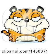 Clipart Graphic Of A Cartoon Sly Saber Toothed Tiger Character Mascot Royalty Free Vector Illustration