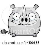 Clipart Graphic Of A Cartoon Happy Rhinoceros Character Mascot Royalty Free Vector Illustration