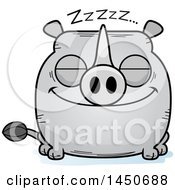 Clipart Graphic Of A Cartoon Sleeping Rhinoceros Character Mascot Royalty Free Vector Illustration