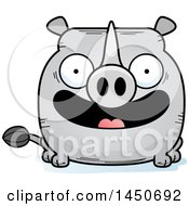 Clipart Graphic Of A Cartoon Smiling Rhinoceros Character Mascot Royalty Free Vector Illustration by Cory Thoman