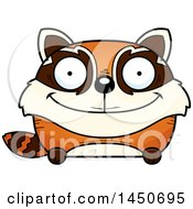 Clipart Graphic Of A Cartoon Happy Red Panda Character Mascot Royalty Free Vector Illustration