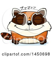 Clipart Graphic Of A Cartoon Sleeping Red Panda Character Mascot Royalty Free Vector Illustration