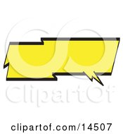 Lightning Shaped Word Balloon With A Yellow Background And Bold Black Outline