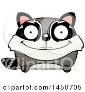 Clipart Graphic Of A Cartoon Happy Raccoon Character Mascot Royalty Free Vector Illustration