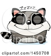 Clipart Graphic Of A Cartoon Sleeping Raccoon Character Mascot Royalty Free Vector Illustration
