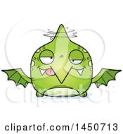 Cartoon Drunk Pterodactyl Character Mascot