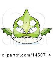 Poster, Art Print Of Cartoon Hatching Pterodactyl Character Mascot