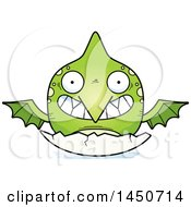 Clipart Graphic Of A Cartoon Hatching Pterodactyl Character Mascot Royalty Free Vector Illustration by Cory Thoman