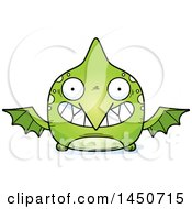 Poster, Art Print Of Cartoon Grinning Pterodactyl Character Mascot