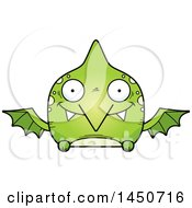 Clipart Graphic Of A Cartoon Happy Pterodactyl Character Mascot Royalty Free Vector Illustration