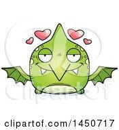 Poster, Art Print Of Cartoon Loving Pterodactyl Character Mascot