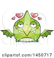 Clipart Graphic Of A Cartoon Loving Pterodactyl Character Mascot Royalty Free Vector Illustration by Cory Thoman