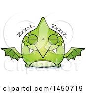 Poster, Art Print Of Cartoon Sleeping Pterodactyl Character Mascot