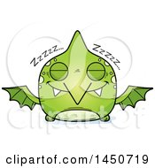 Clipart Graphic Of A Cartoon Sleeping Pterodactyl Character Mascot Royalty Free Vector Illustration