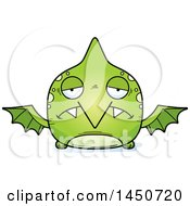 Clipart Graphic Of A Cartoon Sad Pterodactyl Character Mascot Royalty Free Vector Illustration by Cory Thoman