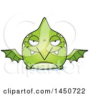 Cartoon Sly Pterodactyl Character Mascot