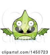 Cartoon Smiling Pterodactyl Character Mascot