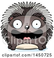Clipart Graphic Of A Cartoon Smiling Porcupine Character Mascot Royalty Free Vector Illustration by Cory Thoman