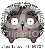 Clipart Graphic Of A Cartoon Happy Porcupine Character Mascot Royalty Free Vector Illustration
