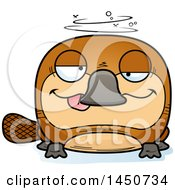 Clipart Graphic Of A Cartoon Drunk Platypus Character Mascot Royalty Free Vector Illustration by Cory Thoman