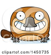 Clipart Graphic Of A Cartoon Grinning Platypus Character Mascot Royalty Free Vector Illustration by Cory Thoman
