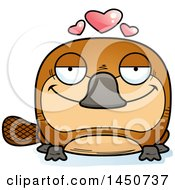 Clipart Graphic Of A Cartoon Loving Platypus Character Mascot Royalty Free Vector Illustration by Cory Thoman