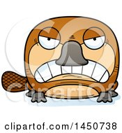 Clipart Graphic Of A Cartoon Mad Platypus Character Mascot Royalty Free Vector Illustration by Cory Thoman