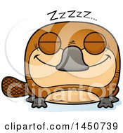 Clipart Graphic Of A Cartoon Sleeping Platypus Character Mascot Royalty Free Vector Illustration by Cory Thoman