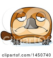 Clipart Graphic Of A Cartoon Sad Platypus Character Mascot Royalty Free Vector Illustration by Cory Thoman