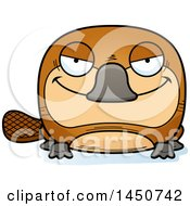 Clipart Graphic Of A Cartoon Sly Platypus Character Mascot Royalty Free Vector Illustration by Cory Thoman